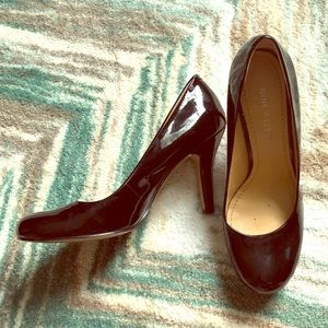 Nine West Ambitious Black Patent Leather Pumps 6.5